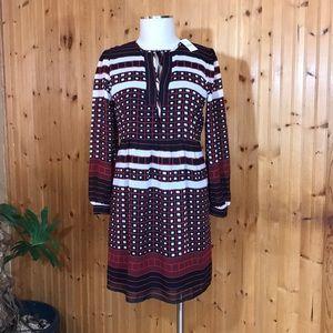 NWT LOFT Ann Taylor Small Petite Black & Red Dress